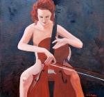 cellist web 18 x 24 acrylic