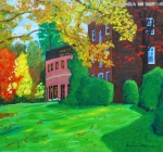 Cobb Hall and Dramatic Arts Building3-e 22x30 acrylic $700